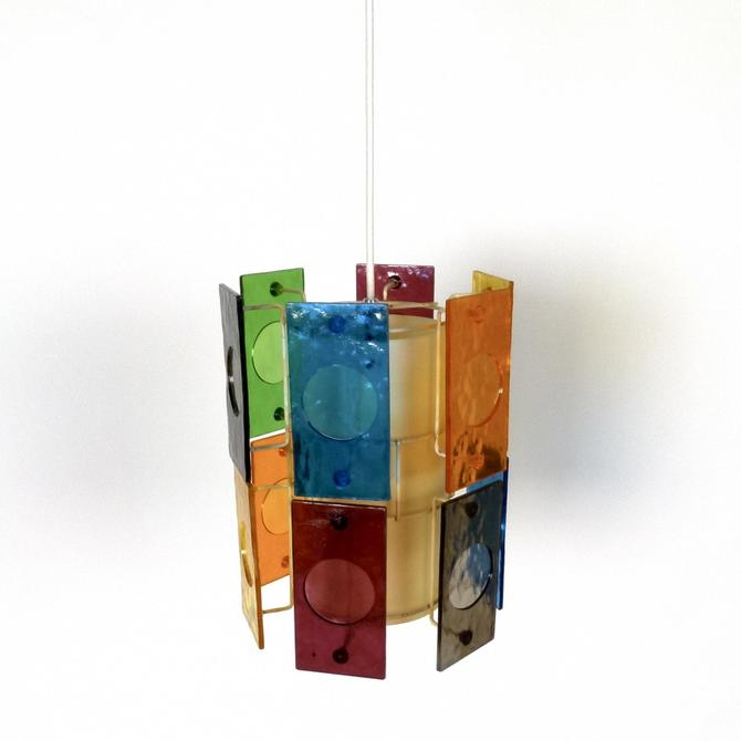 Multi-Colored Pendant Light