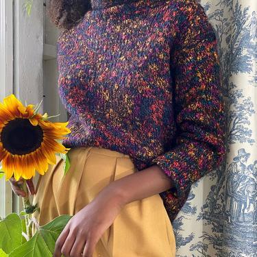90s Shaggy Confetti Knit Sweater