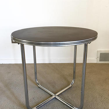 RARE mid century Gilbert Rohde Troy Sunshade Streamline occasional table art deco by TripodModern