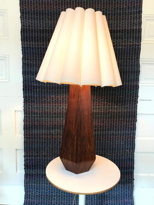 Wooden Geometric Table Light by RareCoVintage