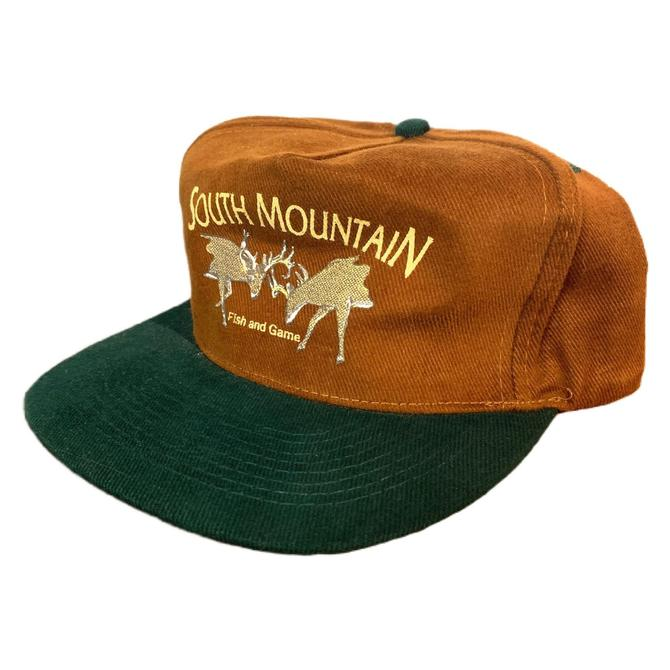 Vintage 90s South Mountain Fish and Game Pennsylvania Strapback Two Tone by OverTheYearsFinds