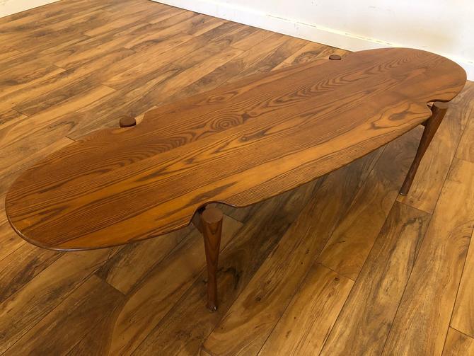 Mid-Century Teak Oval Long Coffee Table by Vintagefurnitureetc