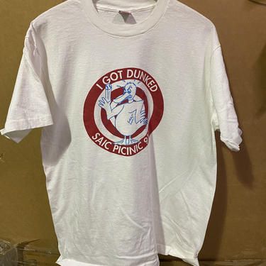 Vintage I Got Dunked Saic Picnic '91 Dunk Tank Duck Graphic Tee t-shirt 3917 by TCWOnline