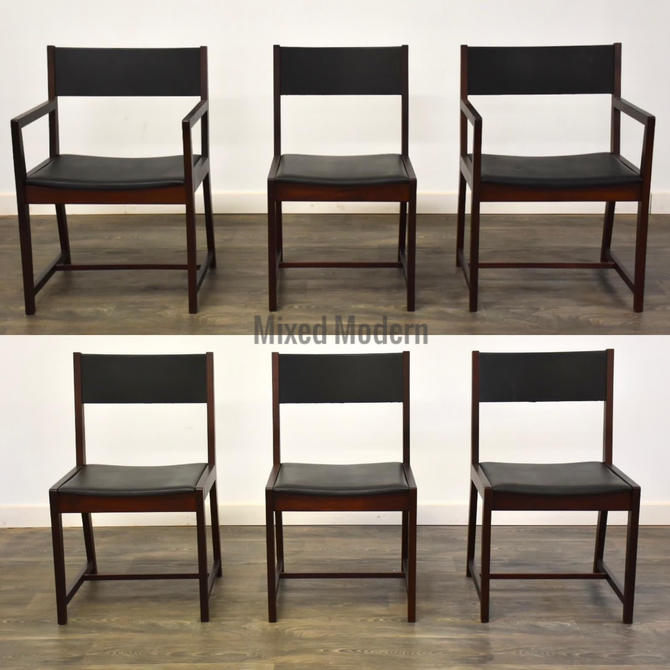 Walnut Dining Chairs by Directional- Set of 6 by mixedmodern1