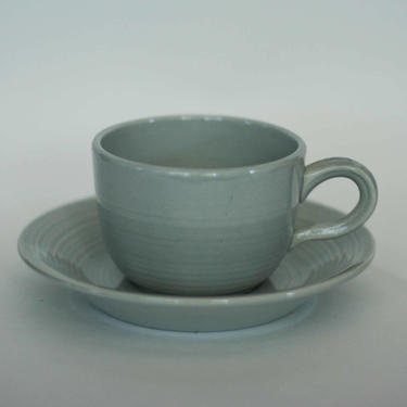 vintage franciscan reflections cup and saucer in gray by suesuegonzalas