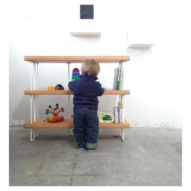 reclaimed wood bookshelf for children, for kids, for kiddos - shelving - bookcase - shelves - shelving unit by birdloft