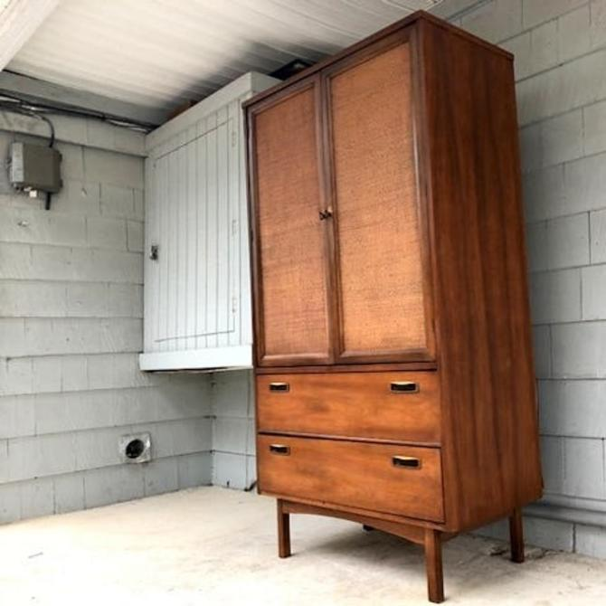 Midcentury Tall Dresser Bachelor's Chest  Armoire