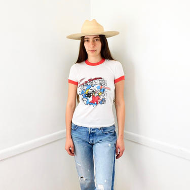 Who Framed Roger Rabbit Tee // vintage 80s boho shirt t-shirt t dress hippie hippy cotton soft thin // XS/S by FenixVintage