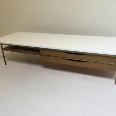 AS IS: Paul McCobb coffee table model 8706 - Calvin - Directional design - carrara glass top