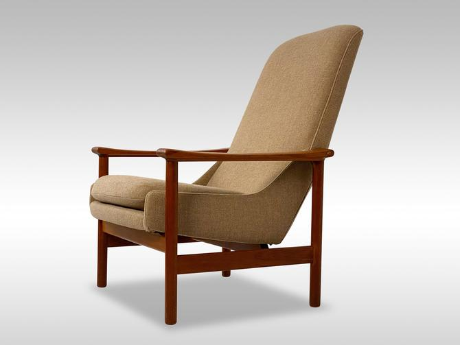 Highback Norwegian Teak Lounge Chair, Circa 1960s - *Please also for a shipping quote before you buy. by CoolCatVintagePA
