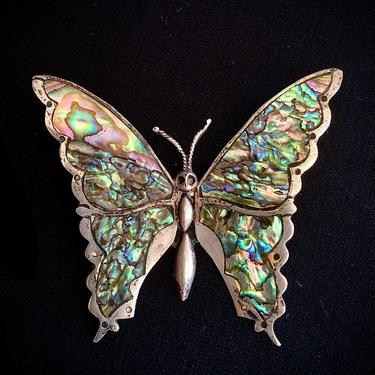 Pre-1948 Sterling Silver Butterfly Brooch Large Swallowtail Highly Detailed by BellewoodDesignGoods