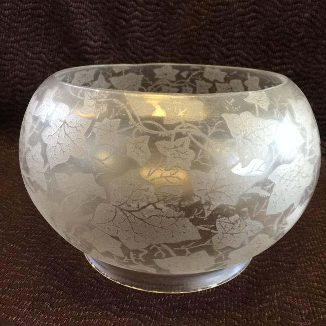 Acid Etched Gas Bowl Shade