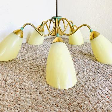 Mid Century Spider Lamp Mint by dadacat