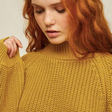 Matilda Sweater (Black & Chartreuse)