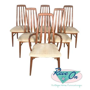 Set of Six Eva Dining Chairs by Niels Koefoed for Koefoeds Hornslet
