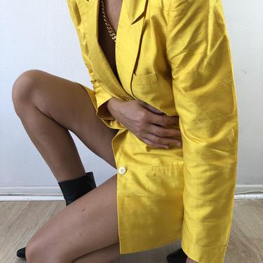 Vintage 80's 90's Liz Claiborne Gorgeous Solid Bright Silk Jacket by VintageRosemond