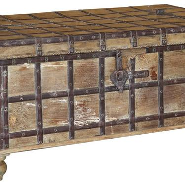 Stunning Vintage Teak Trunk coffee table with Iron fittings by Terra Nova Furniture Los Angeles by TerraNovaLA