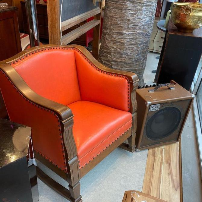 "Groovy orange vinyl rocker, 27.5"" x 28"" x 31"" -"