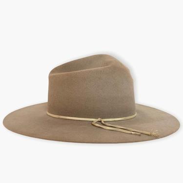 "Vintage 1960s RESISTOL Cowboy Hat ~ size 7 1/8 ~ Campaign ~ 3 1/2"" Wide Brim ~ Tom Mix ~ Western ~ Fur Felt by SparrowsAndWolves"