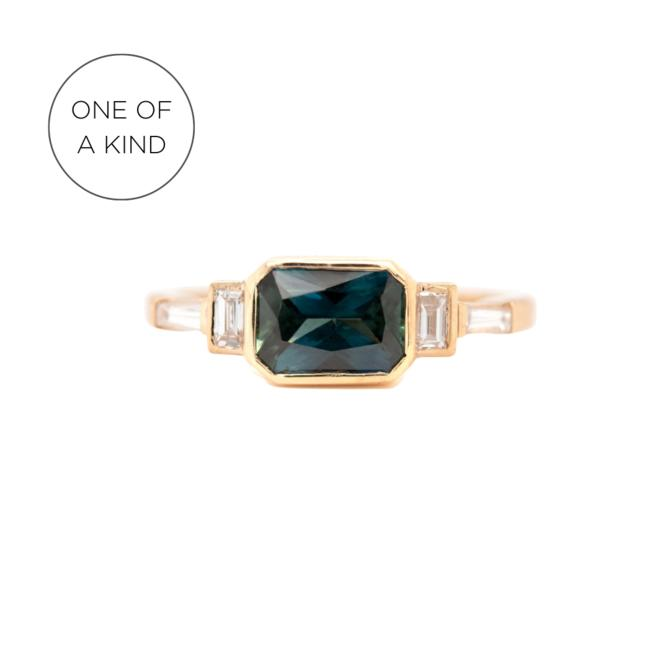 One Of A Kind Sapphire Emerald Cut Ring