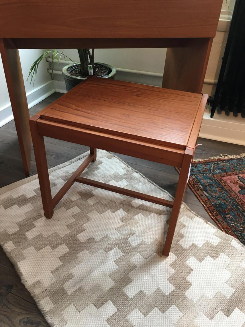 Danish Modern Reversible Bench Table Ottoman Teak Domus