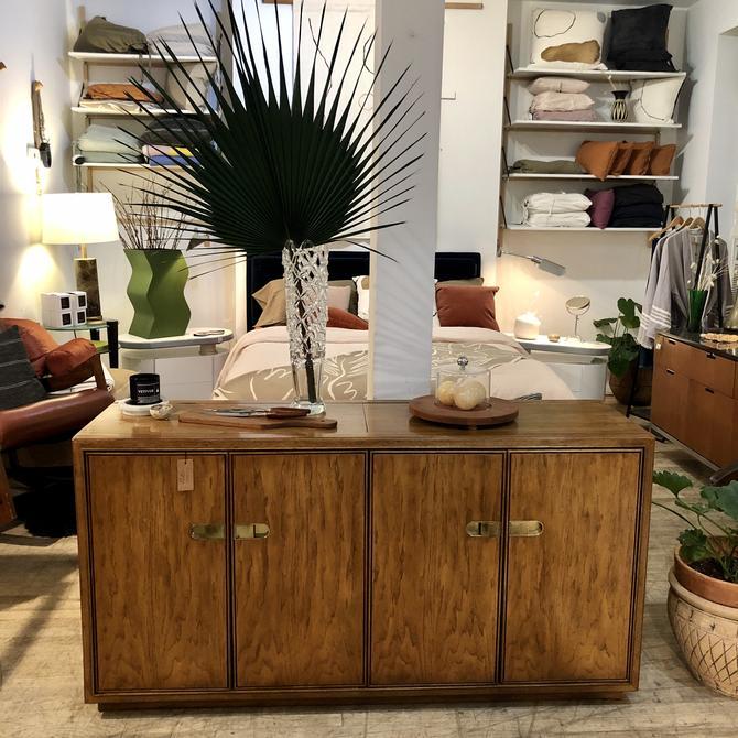 Extendable Oak & Brass Sideboard