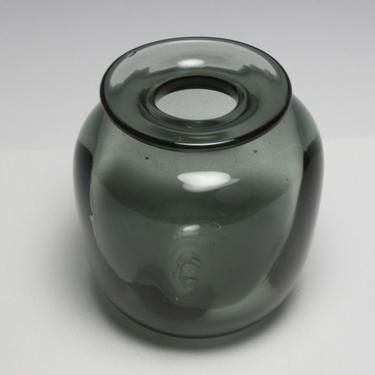 Vtg Buzz Williams 1980 Studio Art Blown Glass Bud Vase Smokey Grey MCM Signed by HouseofVintageOnline