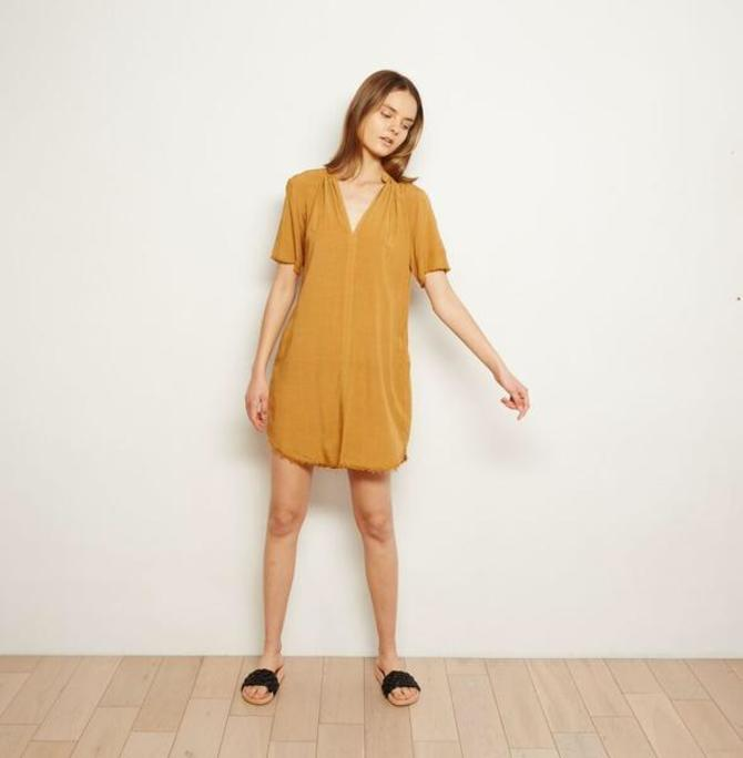 Camel Everyday Shift Dress