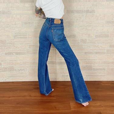 70's Levi's 517 Orange Tab Jeans / Size 30 by NoteworthyGarments