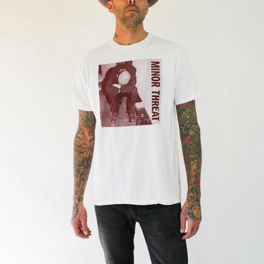Vintage 90s MINOR THREAT Single Stitch Bootleg Tee Shirt | 100% Cotton | Boxy Fit, Hardcore, Punk, Hip Hop, 90s Style | 1990s Band T-Shirt by TheVault1969