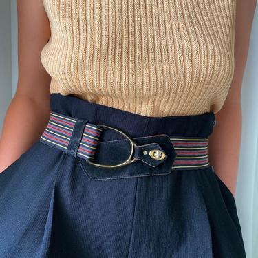60s Striped Stretch Belt