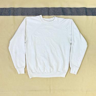 Size Small Vintage 1970s White Raglan Sleeve Sweatshirt by BriarVintage