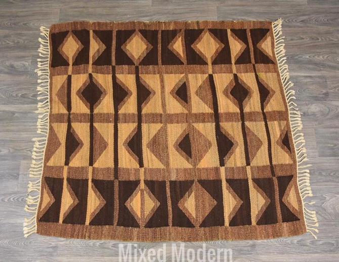 Mid Century Geometric Rug by mixedmodern1