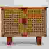 Compact Woven Rattan Credenza by Michael van Beuren for Domus Mexico