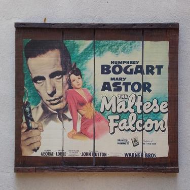 The Maltese Falcon Movie Poster on Wooden Raisin Box by ilikemikes