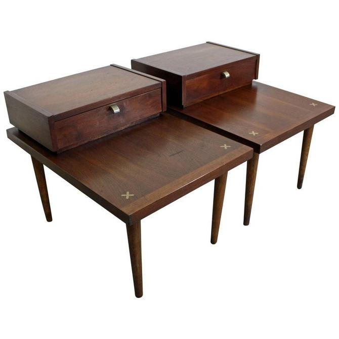 Pair of Mid-Century Modern Merton Gershun American of Martinsville End Tables by AnnexMarketplace