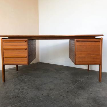 Danish Modern Teak Floating Desk by G.V. Gasviga for GV Mobler by IridiumInteriors