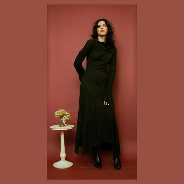 RARE Yohji Yamamoto asymmetrical brown suede patchwork dress F/W 2000 by FlowerInTheMirror