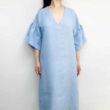 Soft blue linen dress by shopjoolee