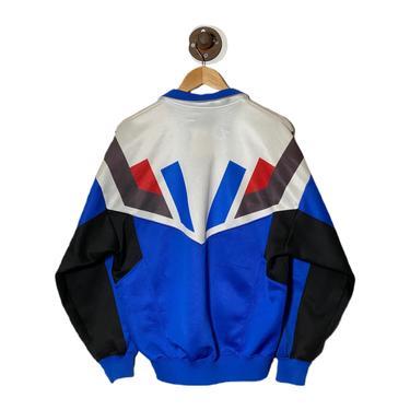 (M) Asics Blue/White Track Jacket 013021