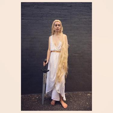 Khaleesi of the Great Grass Sea, Mother of Dragons  starring Anna We have this original costume n much more til 7pm today #meepsdc #gameoftheones #khaleesi #daenerystargaryen #cosplay #vintagecostumes #dc