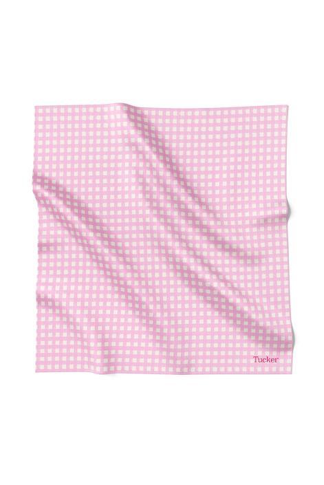 Blake Bandana | Pale Pink Gingham in Polished Cotton