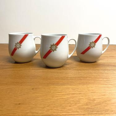 Vintage Rosenthal China TWA Royal Ambassador Airline China Tea Cup Coffee Cup Lot of 3 by OverTheYearsFinds