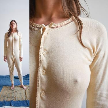 Antique Jersey Knit Union Suit One Piece Romper by milkandice