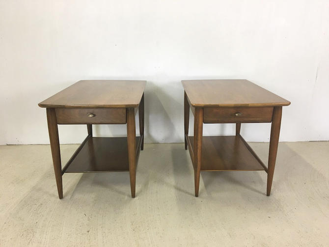 Pair of Mersman Walnut End Tables by retrocraftdesign