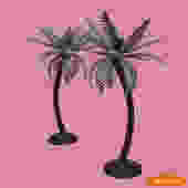 Pair of Palm Tree Candle Holder