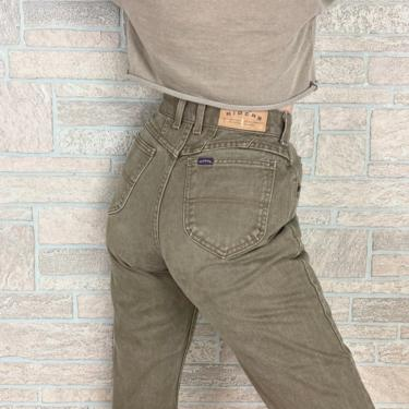 Riders Taupe High Waisted Jeans / Size 25 26 by NoteworthyGarments