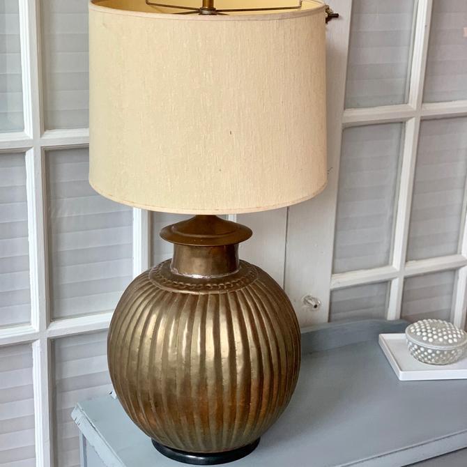 Hammered metal lamp