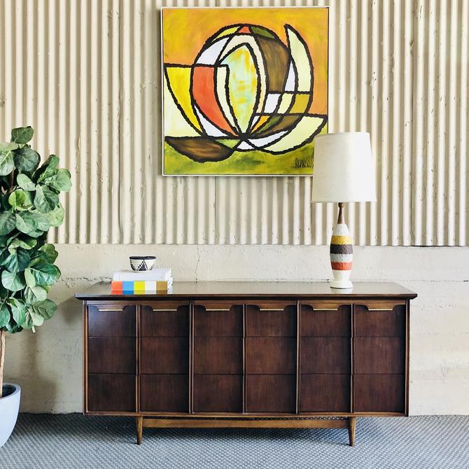Mid Century Modern Walnut Dresser by BasicWitz