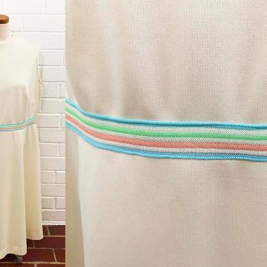 True Vintage White Shift Dress 60s Mod Pink Blue Green Stripe 1960s Mini Dress Mod Twiggy Sleeveless Plus Size XL XXL 1X 1XL Curvy Volup by CheckEngineVintage